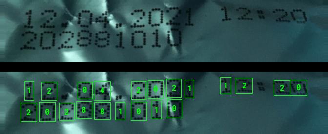 OCR Dot Print Metal